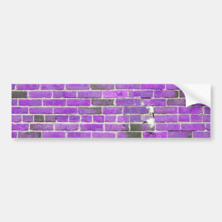 Purple Vintage Brick Wall Texture Bumper Stickers