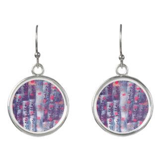 Purple Vintage Earrings