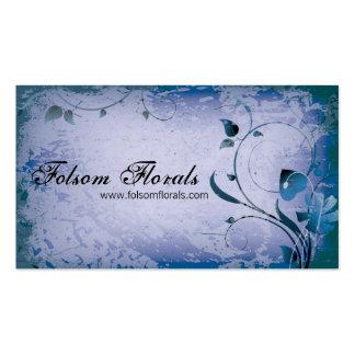 Purple Vintage Florist Leafy Swirl Business Card
