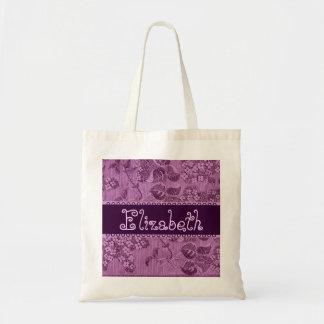 Purple Vintage Flowers Bridesmaid Bag