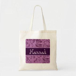 Purple Vintage Flowers Bridesmaid Bag 3