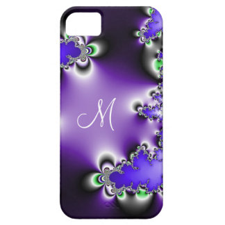 Purple Vintage Geometric Fractal Monogram iPhone 5 Case