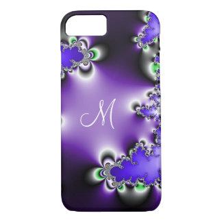 Purple Vintage Geometric Fractal Monogram iPhone 8/7 Case