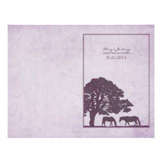 Purple Vintage Horse Farm Wedding Custom Flyer