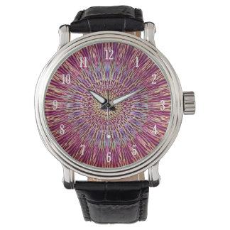 Purple vintage kaleidoscope pattern watch