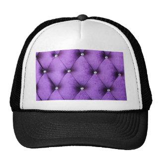 Purple vintage victorian cafe style velvet textile trucker hat
