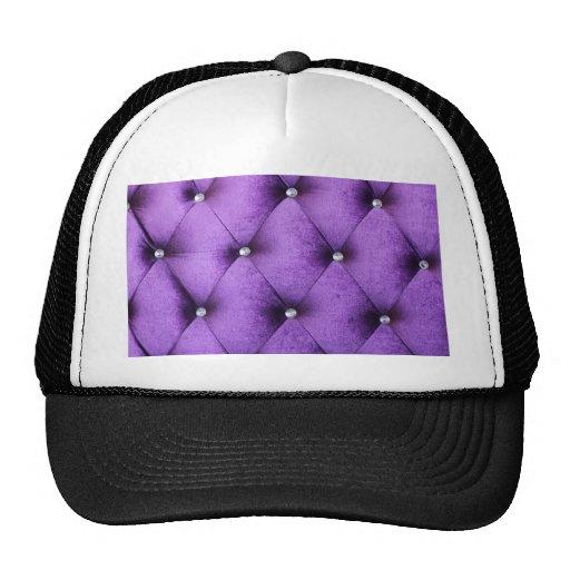 Purple vintage victorian cafe style velvet textile mesh hats