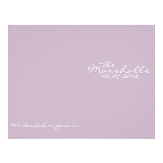Purple Vintage Wedding Ceremony Program Custom Flyer