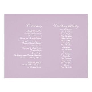 Purple Vintage Wedding Ceremony Program Flyer Design