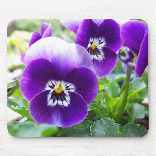Purple Violas Mouse Mat