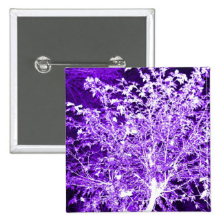 Purple Violet Abstract Tree Branches 15 Cm Square Badge