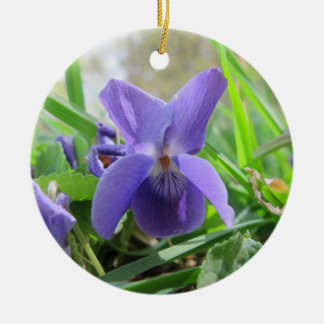 Purple Violet Christmas Ornament