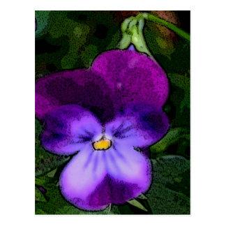 Purple Violet Flower Art Post Card