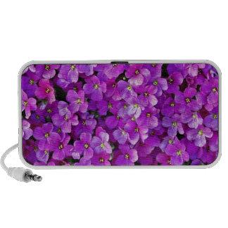Purple violet flowers background portable speakers