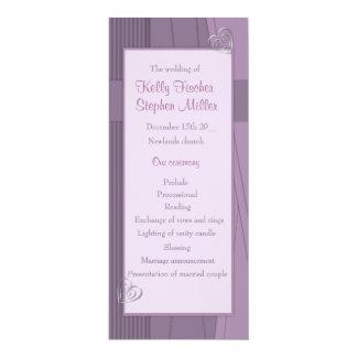 Purple violet grape and silver wedding program