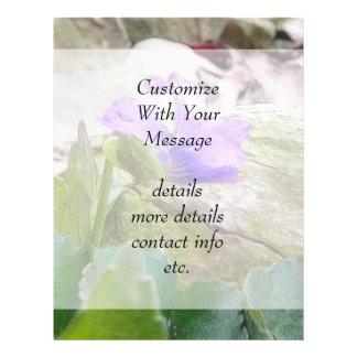Purple Violet In The Rock Garden Custom Flyer