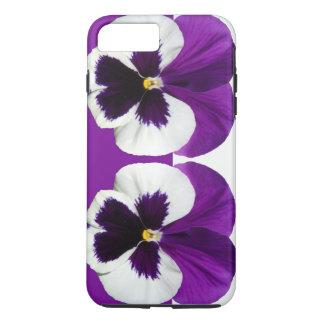 Purple Violet Pansy Flowers iPhone 7 Plus Case