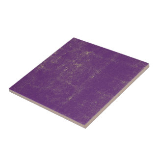 Purple Violet Textured Grunge Pattern Tile