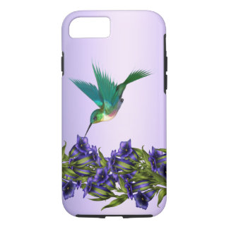Purple Violets Purple Hummingbird iPhone 7 case