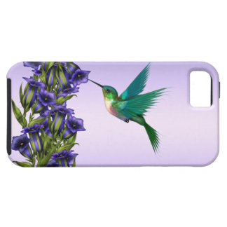 Purple Violets Purple Hummingbird iPhone Case