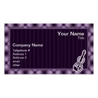 Purple Violin Pack Of Standard Business Cards