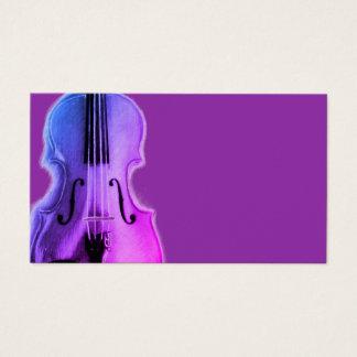 Purple Violin Business Card