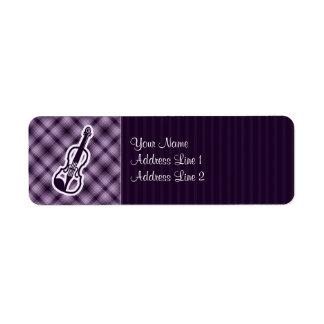 Purple Violin Return Address Label