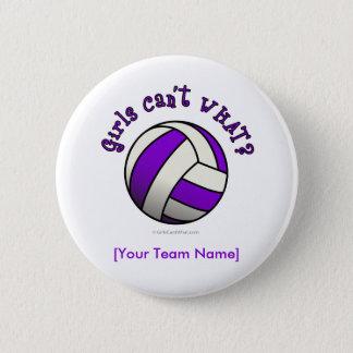 Purple Volleyball 6 Cm Round Badge