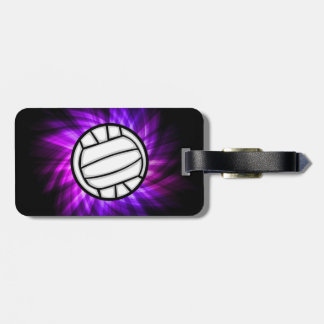 Purple Volleyball Bag Tag