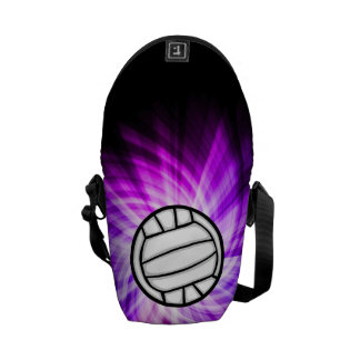 Purple Volleyball Commuter Bag