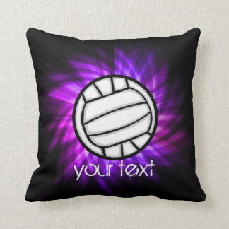 Purple Volleyball Cushion