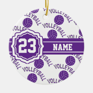 Purple Volleyball | DIY Name and Number Christmas Ornament