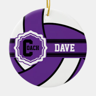 Purple Volleyball | DIY Text Christmas Ornament