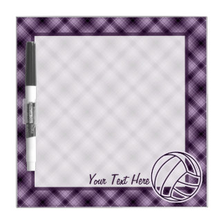 Purple Volleyball Dry Erase Board