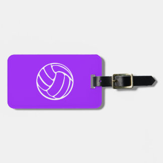 Purple Volleyball Luggage Tag