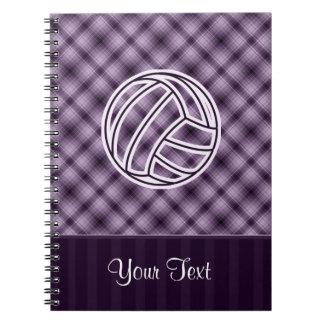 Purple Volleyball Notebooks