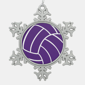 Purple Volleyball Ornament