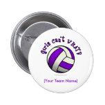 Purple Volleyball Pin