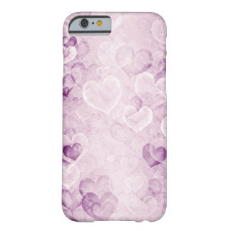 Purple washed out hearts design iPhone 6 case