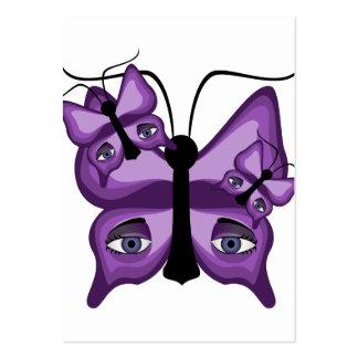 Purple Watcher Butterflies Business Card Templates