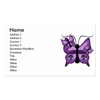 Purple Watcher Butterflies Business Cards