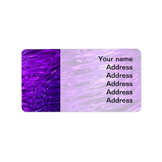 Purple Water Address Label