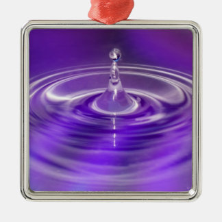 Purple Water Drop Christmas Ornament