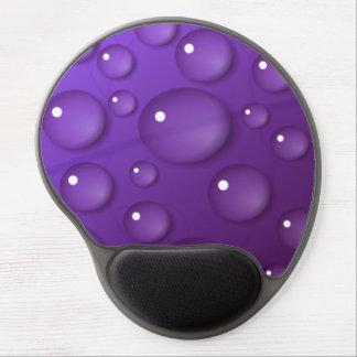 Purple Water Drop Pattern Gel Mouse Pad