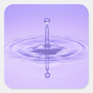 Purple Water Drop Reflection Limitless Ocean Love Square Sticker