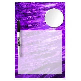 Purple Water Dry Erase Board With Mirror
