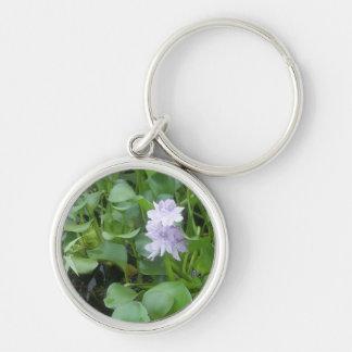 Purple Water Flower Keychain