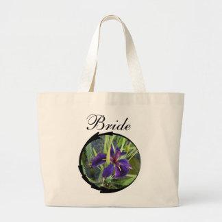 Purple Water Iris Bride Jumbo Tote Bag