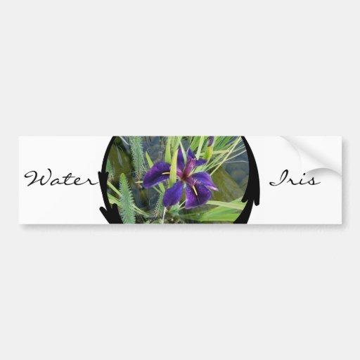 Purple Water Iris Bumper Sticker