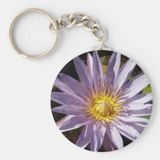 Purple Water Lily Keychain